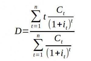 Formule duration